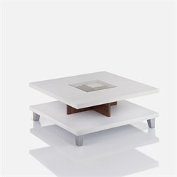Furniture of America Kelli Square Coffee Table in Walnut