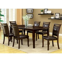 Furniture of America Arriane 6 Piece Leatherette Dining Set