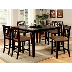Furniture of America Swali 5 Piece Counter Height Dining Set