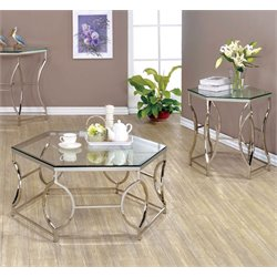 Annette Coffee Table Set in Chrome