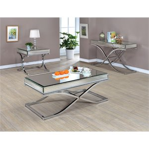 Xander Coffee Table Set in Chrome