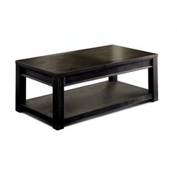 Furniture of America Falima Coffee Table in Antique Black