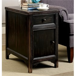 Furniture of America Falima End Table in Antique Black