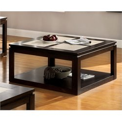Furniture of America Vicenta Square Coffee Table in Espresso