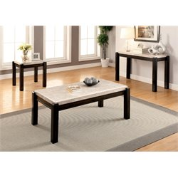 Explenich Coffee Table Set in Ivory
