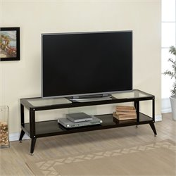 Elton Modern Metal TV Stand in Black