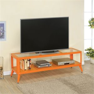 Elton Modern Metal TV Stand in Orange