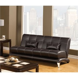 Furniture of America Lucero Leatherette Sofa in Espresso