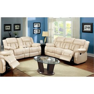 Carrell Sofa Set in Ivory