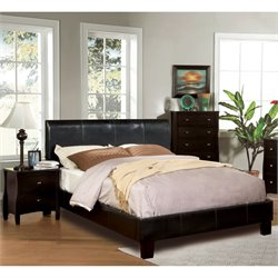 Mevea 2 Piece Bedroom Set in Espresso