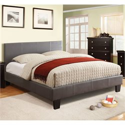 Furniture of America Ramone Queen Platform Bed in Gray