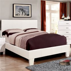 Furniture of America Ramone Twin Platform Bed in White