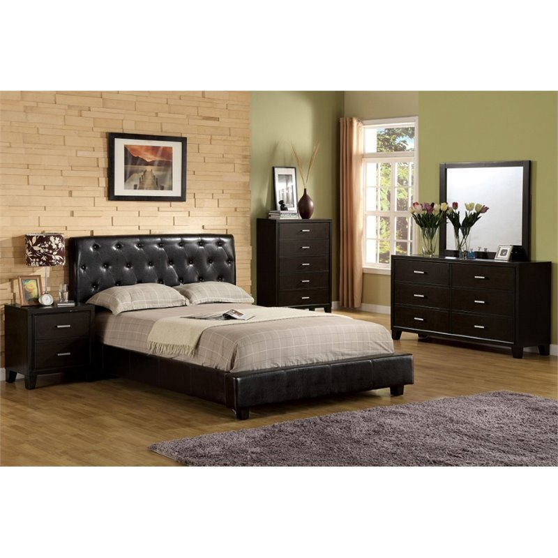 Furniture Of America Naylor 4 Piece King Bedroom Set In