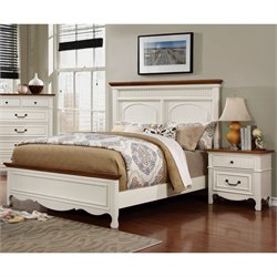 Darla 2 Piece Bedroom Set in White and Oak