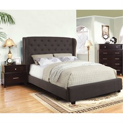Furniture of America Titonian 2 Piece Queen Bedroom Set in Gray