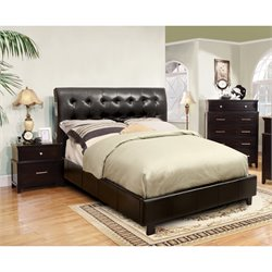 Furniture of America Junnie 3 Piece Full Bedroom Set in Espresso