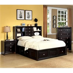 Furniture of America Kaso 3 Piece California King Bedroom Set