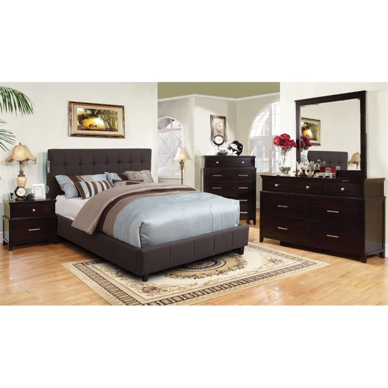 Furniture of america janata 4 piece california king for Bedroom 4 piece set