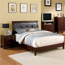 Jeinske 2 Piece Bedroom Set in Brown Cherry