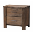Furniture of America Nangetti Rustic Wood 2-Piece Queen Bedroom Set in Brown