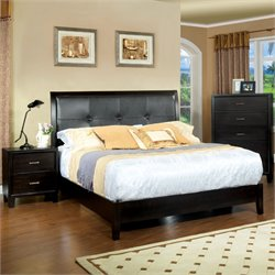 Furniture of America Muscett 3 Piece Full Bedroom Set in Espresso