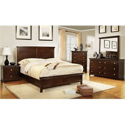 Furniture of America Fanquite 4 Piece California King Bedroom Set