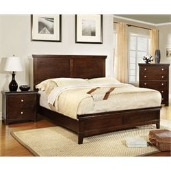 Furniture of America Fanquite 3 Piece Full Bedroom Set in Brown Cherry