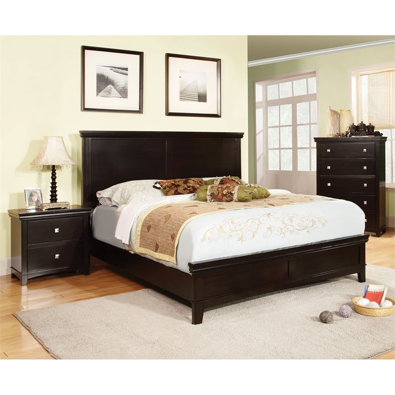 Furniture Of America Fanquite 3 Piece King Bedroom Set In