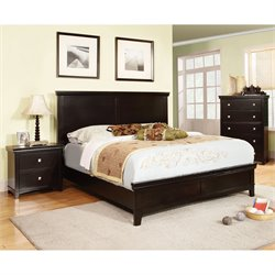Furniture of America Fanquite 3 Piece Full Bedroom Set in Espresso