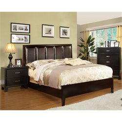 Furniture of America Cruzina 3 Piece Full Bedroom Set in Espresso