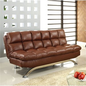 Moore Faux Leather Sofa Bed