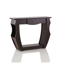 Furniture of America Kylie Modern Console Table in Walnut