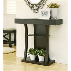 Furniture of America Dean Curved Console Table in Cappuccino