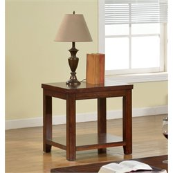 Furniture of America Granger End Table in Cherry