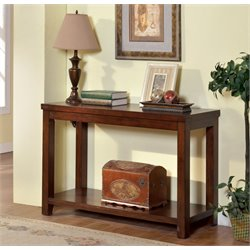 Furniture of America Granger Console Table in Cherry