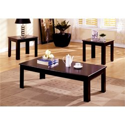 Furniture of America Dempster 3 Piece Coffee Table Set in Medium Oak