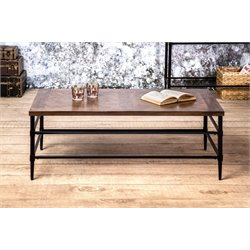 Furniture of America Vinci Coffee Table in Light Oak