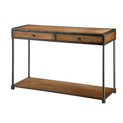 Furniture of America Alexandria Console Table in Antique Oak
