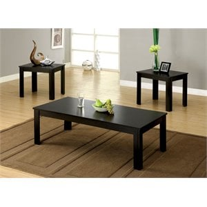 Furniture of America Demner 3 Piece Coffee Table Set in Black  sc 1 st  Cymax Stores & Coffee Table Sets | Cymax Stores