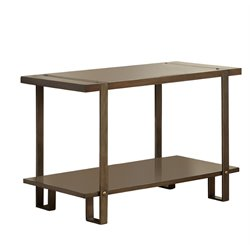 Furniture of America Erasmus Console Table in Dark Oak