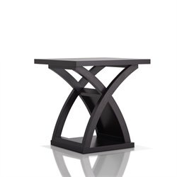 Furniture of America Porthos End Table in Espresso