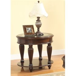 Furniture of America Artemis End Table in Dark Cherry