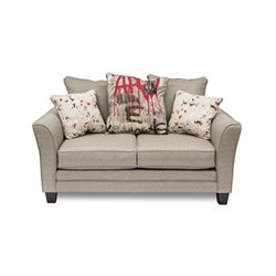 Furniture of America Bernstein Fabric Loveseat in Beige
