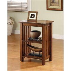 Furniture of America Murray II End Table in Antique Oak