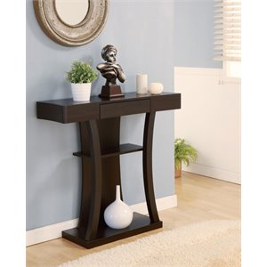 Furniture of America Matamoros Console Table in Cappuccino