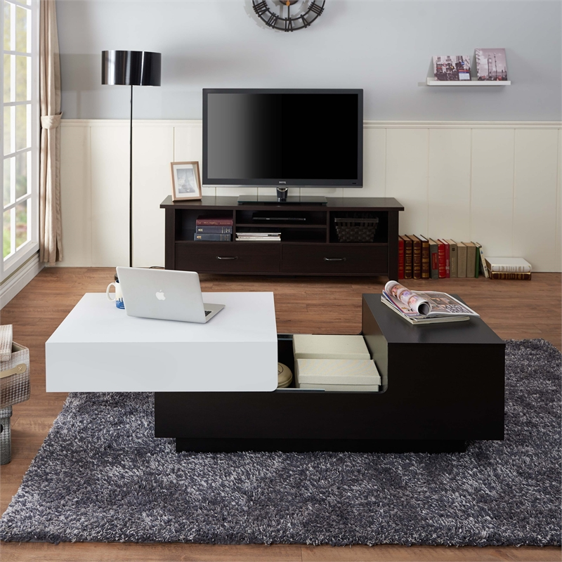 Sectional Sofas Kijiji Kingston: Furniture Of America Chaz Coffee Table In White And Black