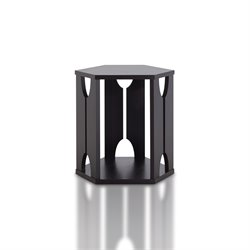 Furniture of America Zachary Hexagon End Table in Espresso