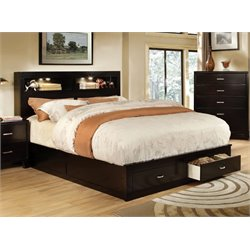 Furniture of America Louis California King Storage Bookcase Bed