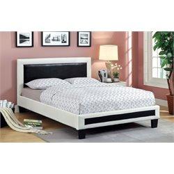Furniture of America Retticker California King Leather Bed in White