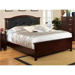 Furniture of America Pruden California King Panel Bed in Cherry